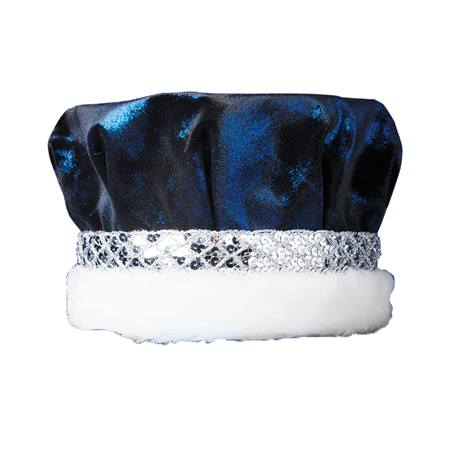 Glitter Crown - Blue with Silver Band