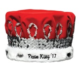 Prom King 2017 Regal Crown with Silver Band