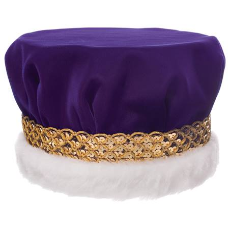 Velvet Crown With Gold Braided Band