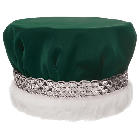 Velvet Crown With Silver Braided Band