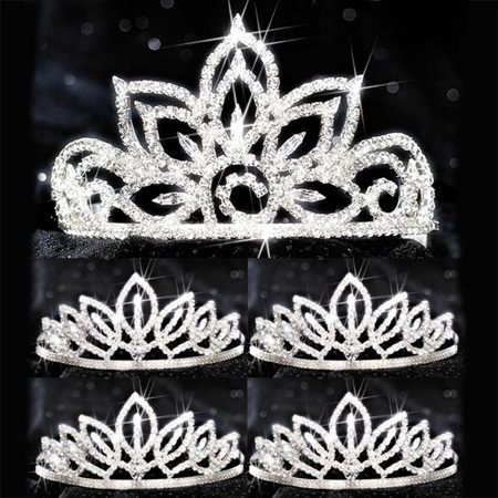 Five-piece Tiara Set - Falling Star Queen and Toni Court