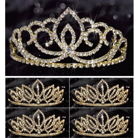 Gold Sasha Queen and Court Tiara Set