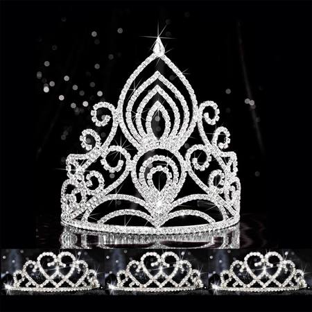 Four-piece Tiara Set - Amelia Queen and Amour Court