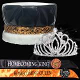 King and Queen Homecoming Set - ZaharaTiara/Metallic Crown