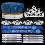 King and Queen Homecoming Coronation Set with Buttons - Falling Star/Toni