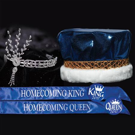 Metallic Homecoming King & Queen Royalty Set - Daisy Tiara