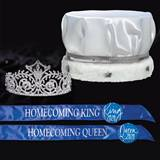 Satin Homecoming King & Queen Set - Elsa Tiara
