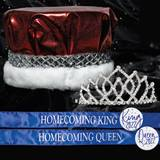 King and Queen Homecoming Set - ArmandeTiara/Metallic Crown
