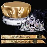 King and Queen Homecoming Set - Elizabeth Tiara/Satin Crown