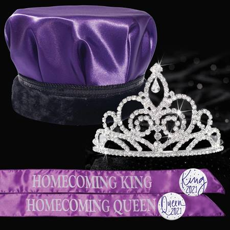 King and Queen Homecoming Set - Sutton Tiara/Satin Crown