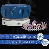 King and Queen Homecoming Set - Taylor Tiara/Satin Crown