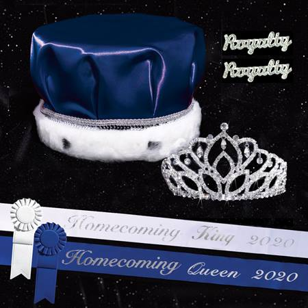 Homecoming Royalty Set with Sashes and Pins - Mirabella Tiara/Satin Crown