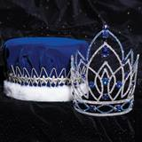 Majestic Tiara and Crown Set - Blue Jennifer/Velvet Crown