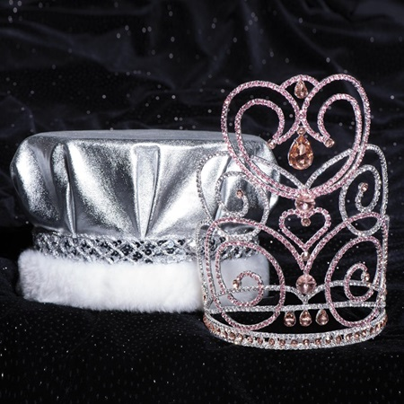 Majestic Tiara and Crown Set - Pink Char/Metallic Crown