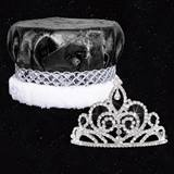 Homecoming Royalty Set - Sutton Tiara/Crushed Satin Crown