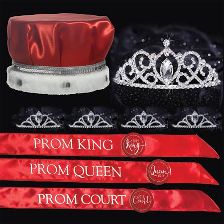 Classic Prom Coronation Set - Red/White