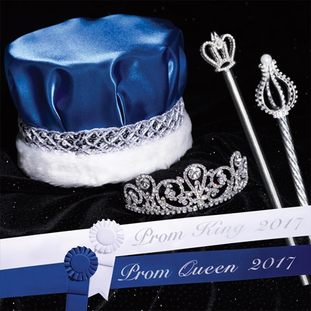 Prom Silver Solitaire Set with Scepters