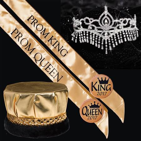 Metallic Prom King & Queen Royalty Set - Jasmine Tiara
