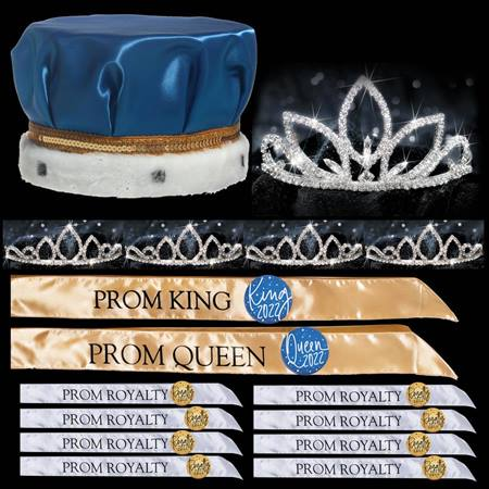 King and Queen Prom Coronation Set with Pins - Natalia/Saba