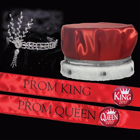 Satin Prom King & Queen Set - Daisy Tiara