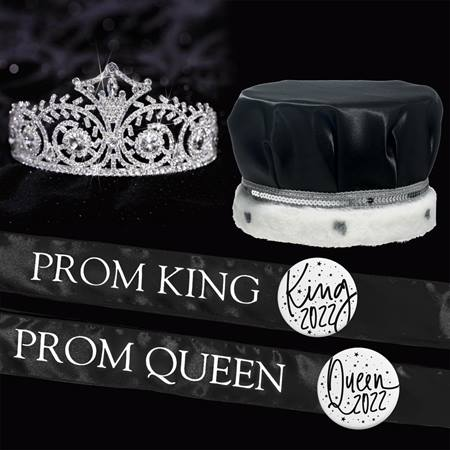 Satin Prom King & Queen Set - Elsa Tiara