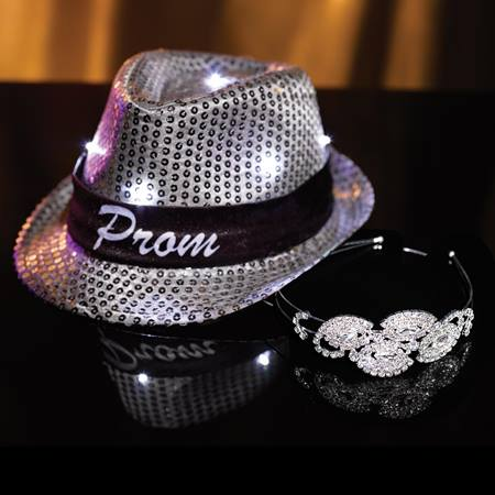 Rouge Tiara with Light-up Fedora Set