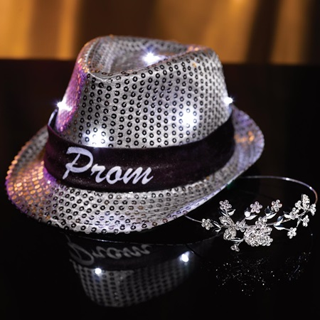Amanda Tiara with Light-up Fedora Set