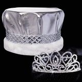 Adele Tiara and Metallic Crown Set
