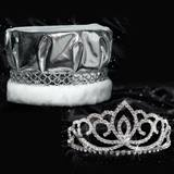 Sasha Tiara and Crown Set - Silver Metallic
