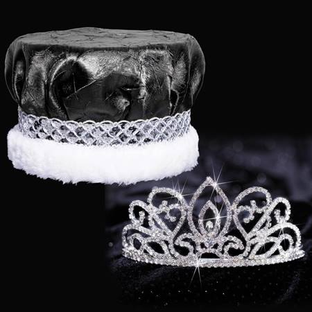 Adele Tiara and Crown Set - Metallic