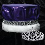 Mirabella Tiara and Crown Set - Metallic