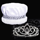 Sasha Tiara and Crown Set - Crushed Satin