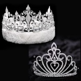 Celia Tiara and Crown Set - Fleur-de-Lis