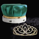 Gold Sasha Tiara and Crown Set - Satin Crown