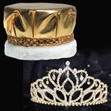 Gold Mirabella Tiara and Crown Set - Metallic Crown