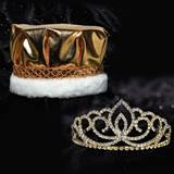 Gold Sasha Tiara and Crown Set - Metallic Crown