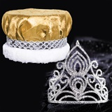 Tiara and Crushed Satin Crown Set - Amelia Tiara