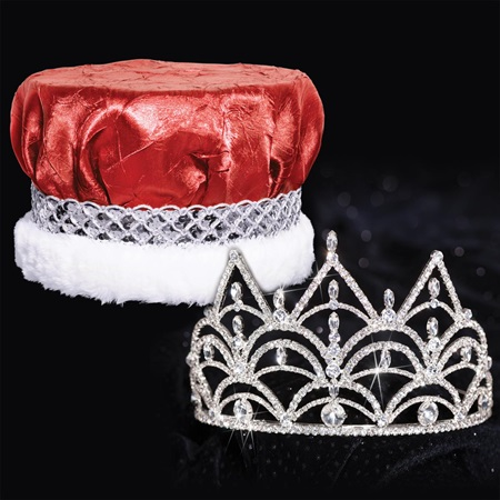 Tiara and Crushed Satin Crown Set - Darlene Tiara