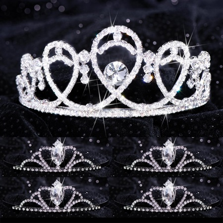 Queen and Court Tiara Set - Kendall and Black Vicky
