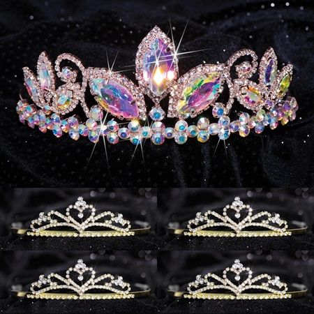 Queen and Court Tiara Set - Taylor and Gold Alisa