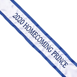 Homecoming Sash - One-color Edge with One Line of Text