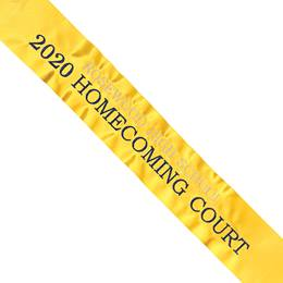 Homecoming Sash - Glitter with Two Lines of Text in Two Colors