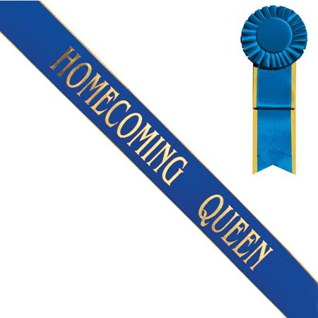 Homecoming Queen Sash with Gold Edge