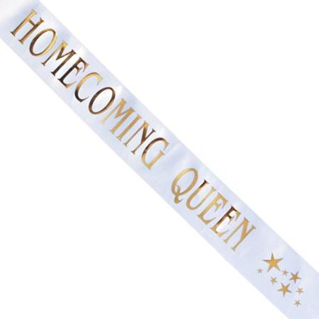Homecoming Queen Sash with Gold Stars