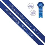 Homecoming King/Queen 2017 Sashes and Buttons Set - Blue/Silver