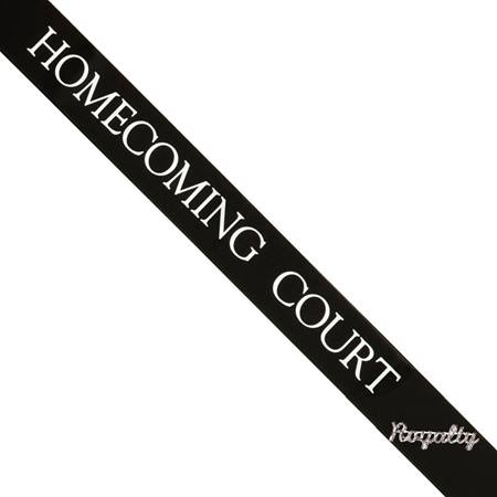 Homecoming Court Sash with Royalty Pin- Black