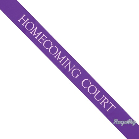 Homecoming Court Sash with Royalty Pin- Purple