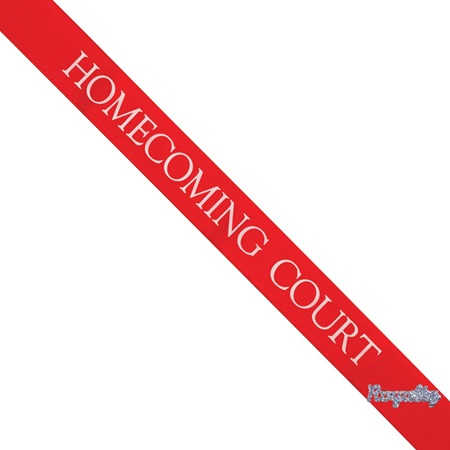 Homecoming Court Sash with Royalty Pin- Red