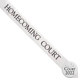Homecoming Court Ribbon Sash and Star Button Set - White
