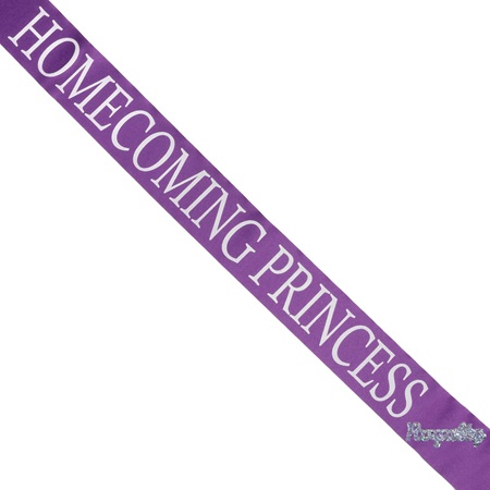 Homecoming Princess Sash with Royalty Pin - Purple